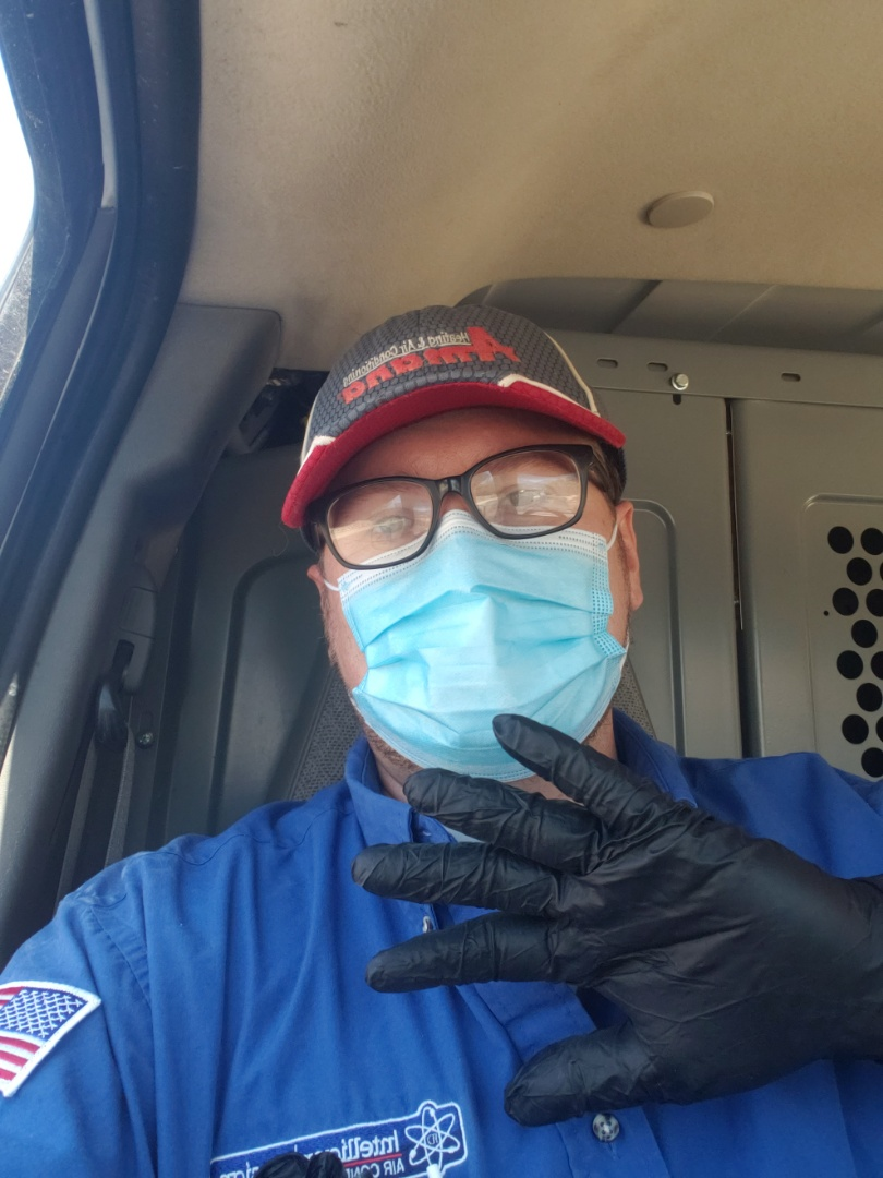 Safety first! AC check with Intelligent Design heating and cooling HVAC furnace and Air conditioner maintenance repair and replacement.