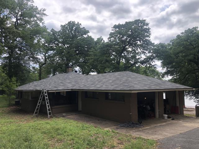 Tyler, TX - Roof replacement with Malarkey Duraseal; Storm Gray,  satisfied customer, Cantrell Roofing Tyler TX,