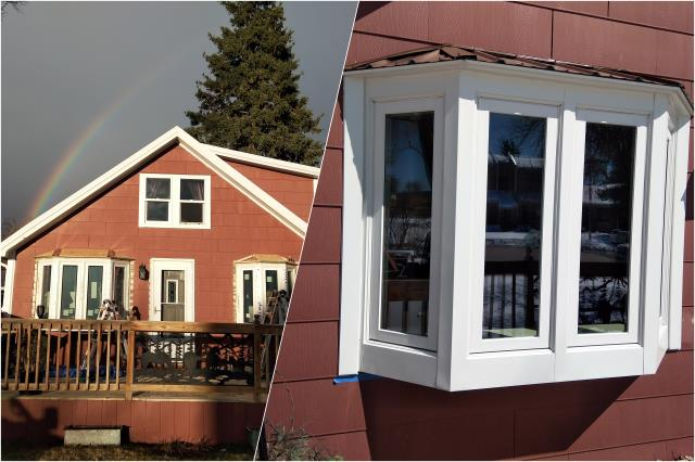 Rapid City, SD - We replaced old 1940's original wood clad picture windows with Renewal by Andersen bay windows on this home in Rapid City!