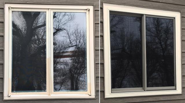 Sturgis, SD - This Sturgis, SD home upgraded their windows to our Energy Efficient Fibrex Windows!