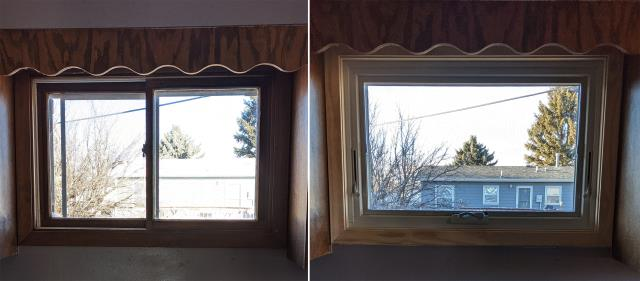 Rapid City, SD - This Rapid City, SD home upgraded their windows to our Energy Efficient Fibrex Windows!