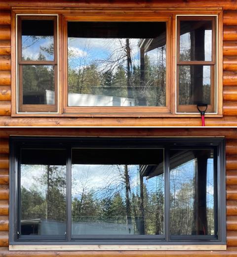 Sturgis, SD - This Sturgis, SD home upgraded their windows to our 5 Star Energy Efficient Fibrex Windows!
