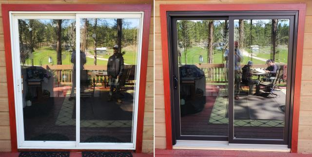 Custer, SD - This Custer, SD home upgraded their patio door to our Energy Efficient Sliding Glass Patio Door!
