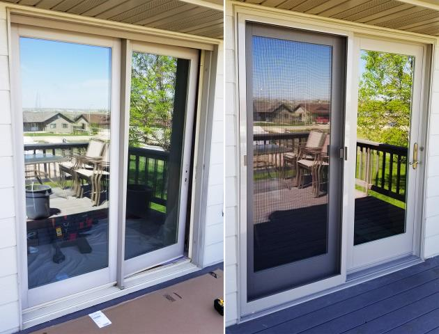 Belle Fourche, SD - This Belle Fourche, SD home upgraded their windows to our 5 Star Energy Efficient Fibrex Windows & their patio door to our Energy Efficient French Style Patio Door!