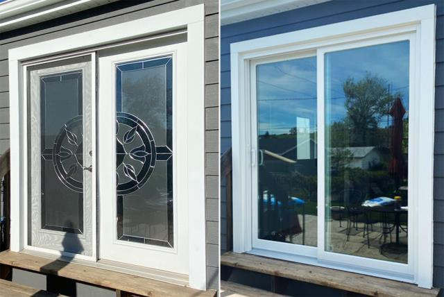 Sturgis, SD - This Sturgis, SD home upgraded their windows to our 5 Star Energy Efficient Fibrex Windows and patio door to our energy efficient Sliding Glass Patio Door!