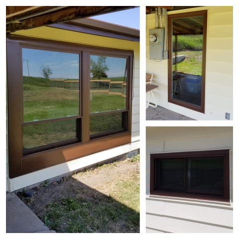 Edgemont, SD - Look at these beautiful upgraded RbA Fibrex® windows done in Edgemont!