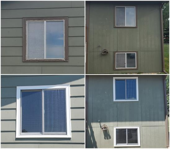 Rapid City, SD - What a transformation done with our RbA Fibrex® windows! Install done in Rapid City!