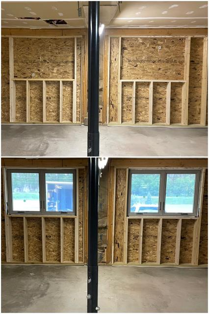 Custer, SD - These folks in Custer added our RbA Fibrex® windows in their garage!