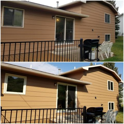 Rapid City, SD - We upgraded these old windows and door to our RbA Fibrex® picture & gliding windows along with a new Perma-Shield® Gliding Patio Door!
