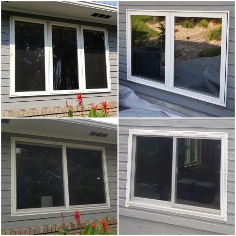 Pierre, SD - Beautiful RbA Fibrex® Glider windows installed here in Pierre!