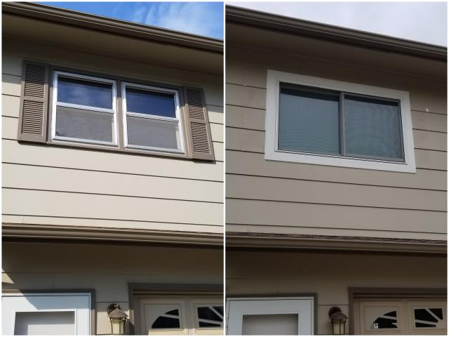 Rapid City, SD - We replaced these old double hung windows with a RbA Fibrex® Gliding window!