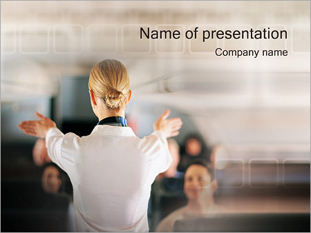 Стюардесса Шаблоны презентаций PowerPoint