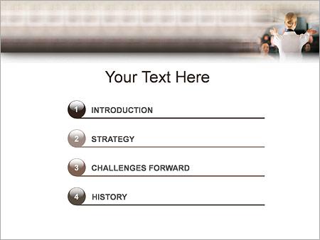 Стюардесса Шаблоны презентаций PowerPoint - Слайд 3