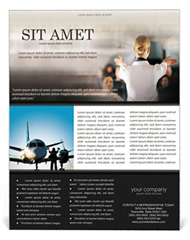 Stewardess Flyer Template