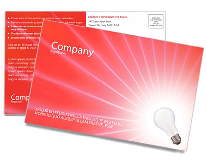 Lamp Postcard Template