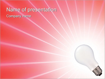 Лампа Шаблоны презентаций PowerPoint - Слайд 1