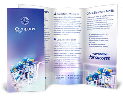 ECommerce Brochure Template Design ID - Sales brochure template