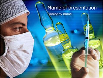 Preparing syringe PowerPoint Template