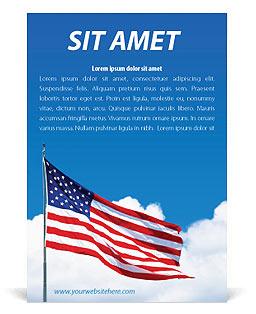 Bandera americana Plantillas de anuncio