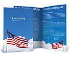American Flag Brochure Template