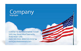 American Flag Business Card Templates