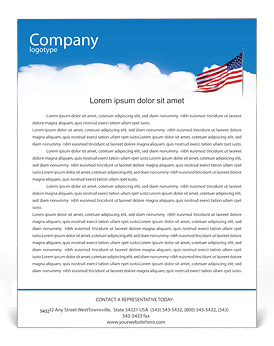 Free letterhead templates designs for download smiletemplates american flag letterhead template friedricerecipe Images