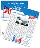 American Flag Newsletter Template