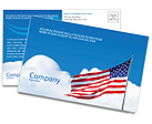 American Flag Postcard Template
