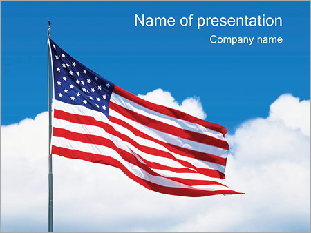 american flag powerpoint template backgrounds google slides id