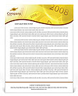 Year 2008 Letterhead Template