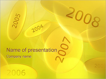 Year 2008 PowerPoint Template