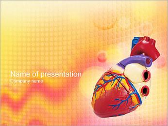 Heart Model PowerPoint Template