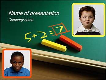 Aritmética Ecuación Plantillas de Presentaciones PowerPoint