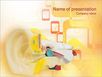 Ear Model PowerPoint Template