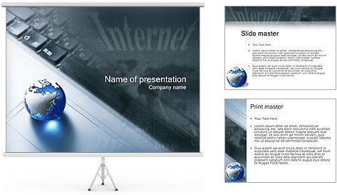 Internet & Laptop PowerPoint Template