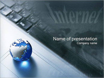 Internet & Laptop PowerPoint Template - Slide 1
