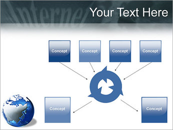 Internet & Laptop PowerPoint Template - Slide 10