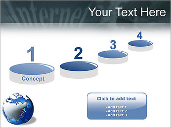 Internet & Laptop PowerPoint Template - Slide 7