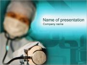 Doctor with Stethoscope PowerPoint Templates