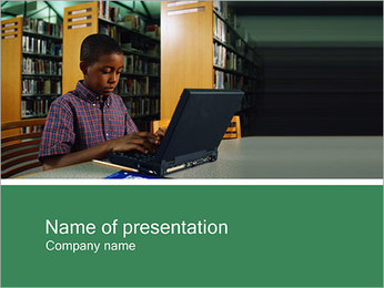Library & Computer PowerPoint Template