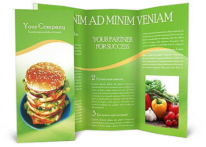 Fast Food Brochure Template