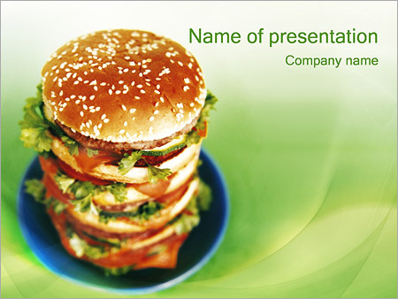 Fast Food Powerpoint Template Backgrounds Google Slides Id