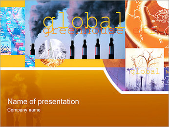 Global Greenhouse PowerPoint Template