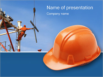 Chapéu duro Modelos de apresentações PowerPoint - Slide 1