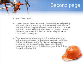 Chapéu duro Modelos de apresentações PowerPoint - Slide 2