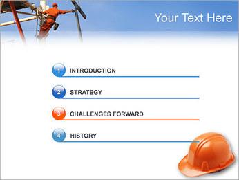 Chapéu duro Modelos de apresentações PowerPoint - Slide 3