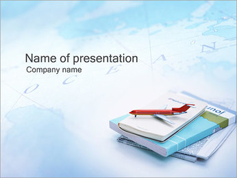 Airplane Model PowerPoint Template