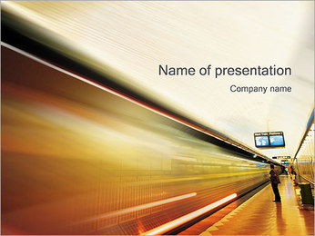 Subway Station PowerPoint Template