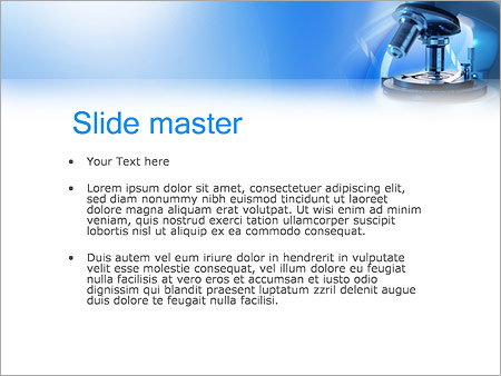 Microscope PowerPoint Template