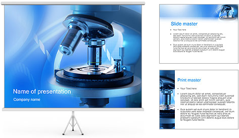 Microscope PowerPoint Template & Backgrounds ID 0000000066 ...